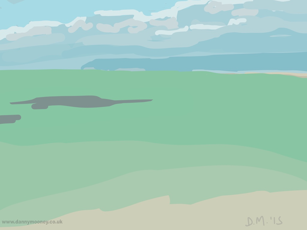 Danny Mooney 'The sea is green, 21/7/2015' iPad painting #APAD