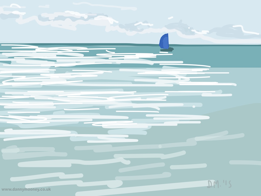 Danny Mooney 'Blue sail, 30/7/2015' iPad painting #APAD