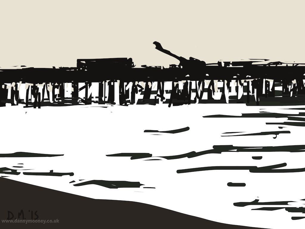 Danny Mooney 'Bright pier 2, 28/7/2015' iPad painting #APAD