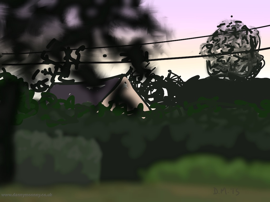 Danny Mooney 'Evening light, Fautrel, 6/8/2015' iPad painting #APAD