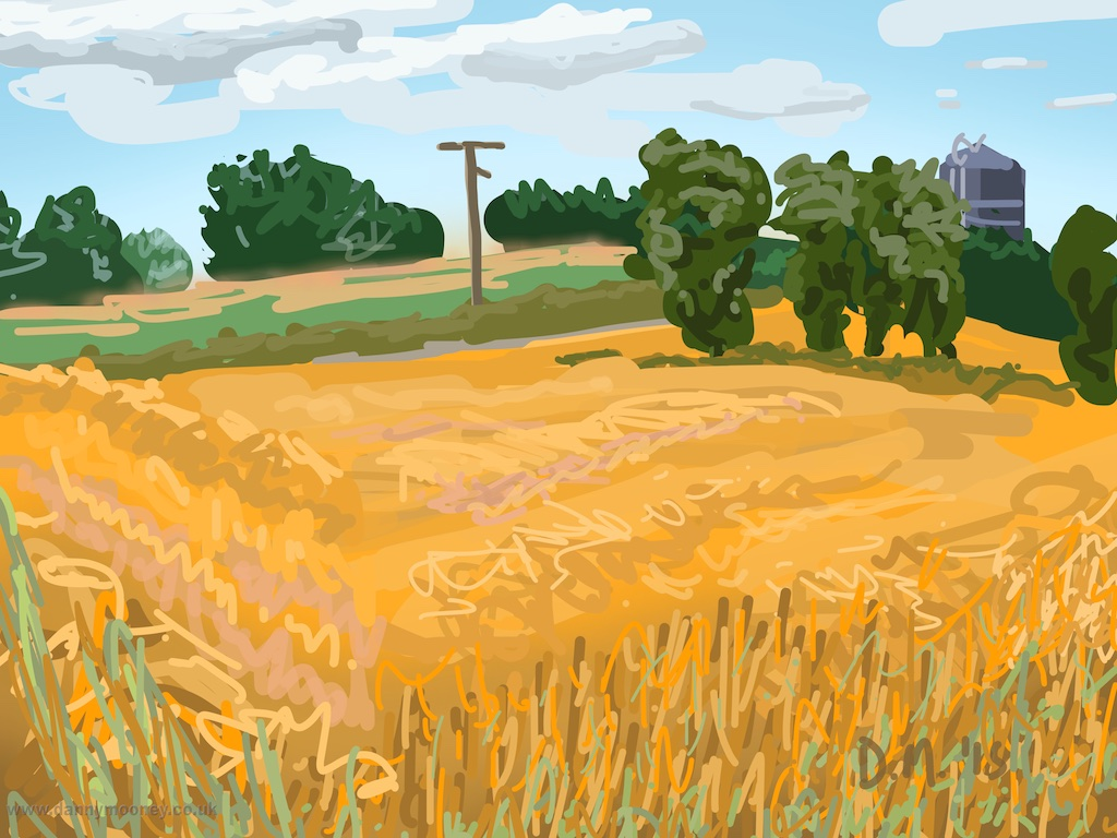 Danny Mooney 'Field, 4/8/2015' iPad painting #APAD