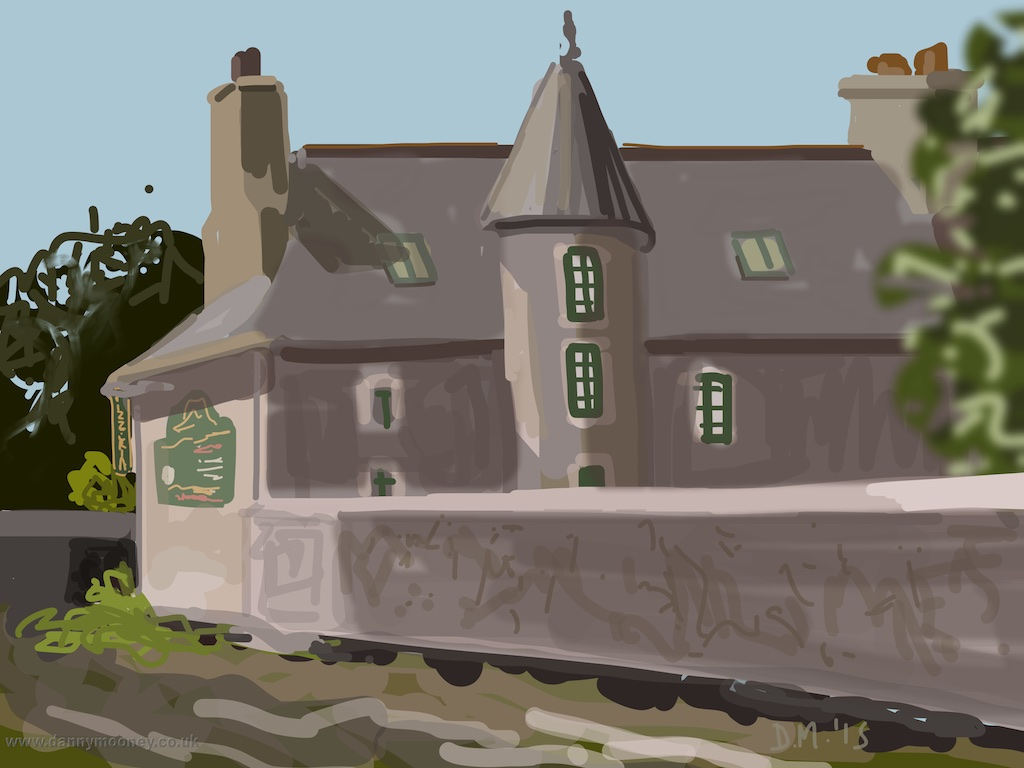Danny Mooney 'Le Prieuré, Lamballe, 8/8/2015' iPad painting #APAD