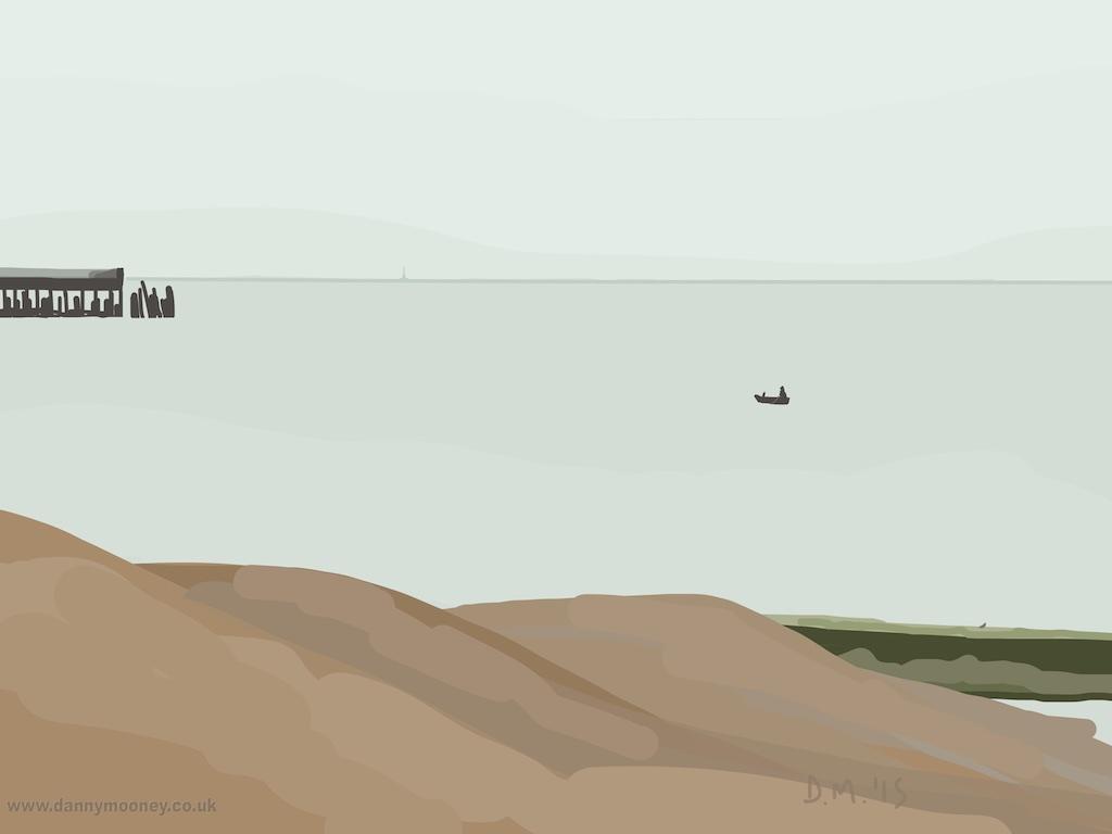 Danny Mooney 'Rowing, 1/8/2015' iPad painting #APAD