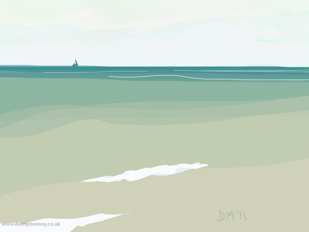 Danny Mooney 'Sail, 29/7/2015' iPad painting #APAD