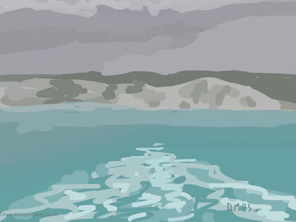 Danny Mooney 'White Cliffs, 3/8/2015' iPad painting #APAD