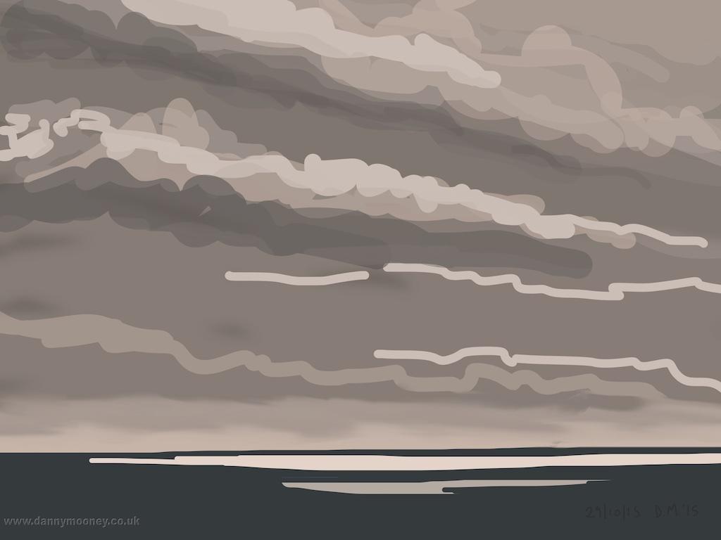 Danny Mooney 'Bright and breezy, 29/10/2015' iPad painting #APAD