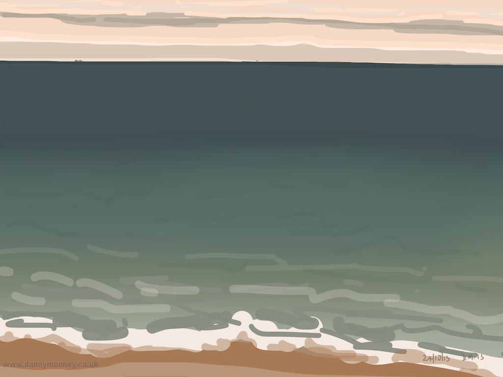 Danny Mooney 'Calm, 24/10/2015' iPad painting #APAD