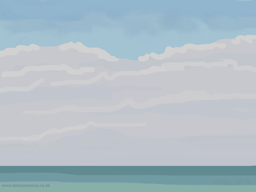 Danny Mooney 'Clouds, 26/10/2015' iPad painting #APAD