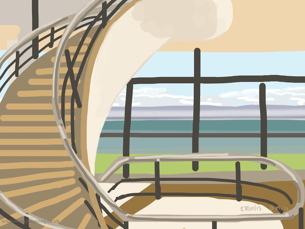 Danny Mooney 'DLWP, 28/10/2015' iPad painting #APAD