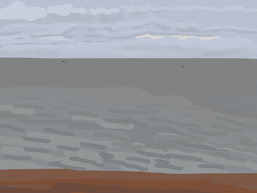 Danny Mooney 'Grey day, 21/10/2015' iPad painting #APAD