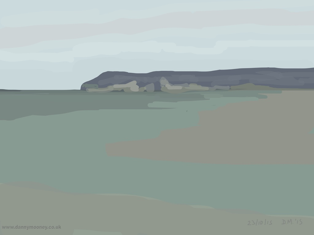 Danny Mooney 'Lavender headland, 23/10/2015' iPad painting #APAD