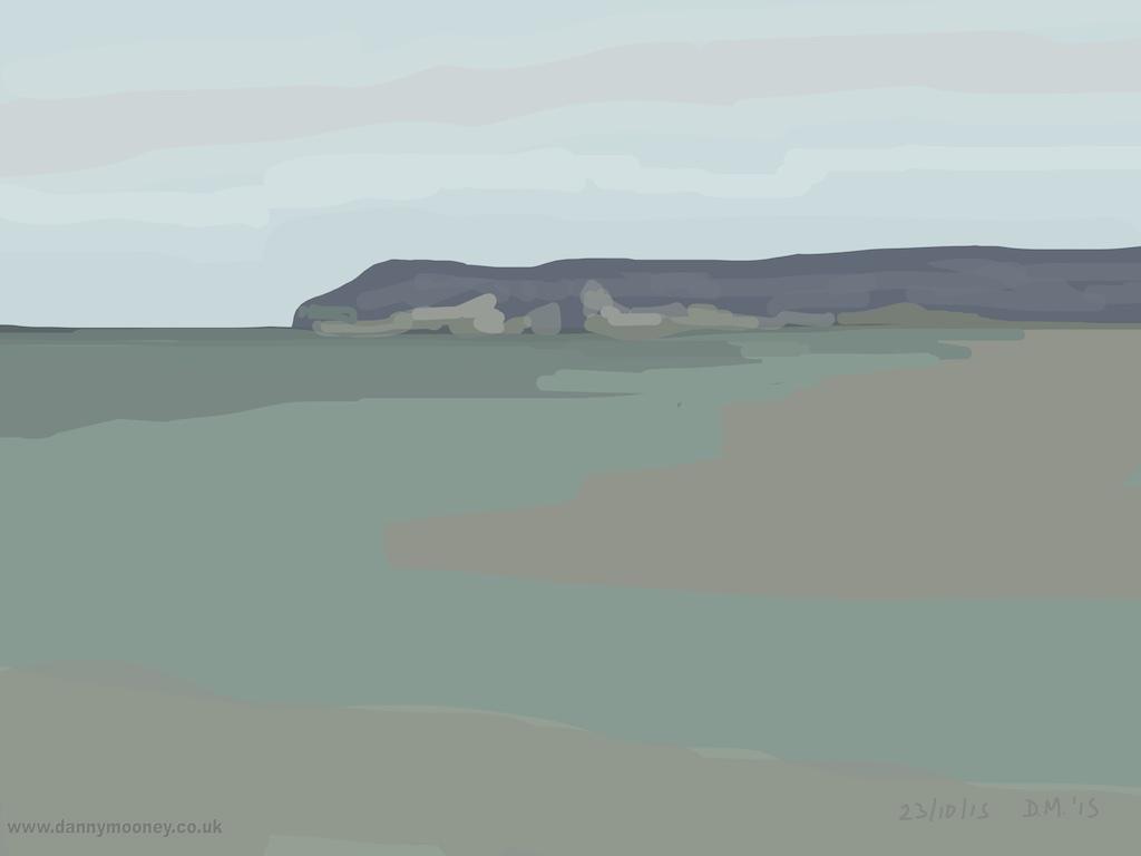 Danny Mooney 'Lavender headland, 23/10/2015' iPad painting #APAD