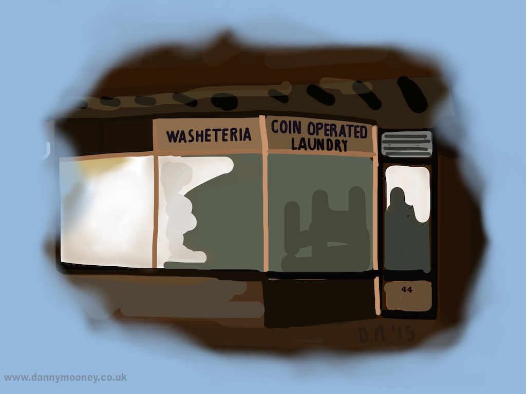 Danny Mooney 'Nighthawks Laundrette, 24/10/2015' iPad painting #APAD