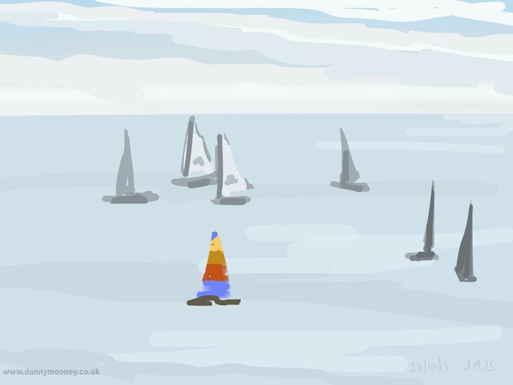 Danny Mooney 'Sail, 25/10/2015' iPad painting #APAD