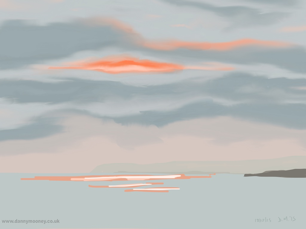 Danny Mooney 'Sunset, 18/10/2015' iPad painting #APAD