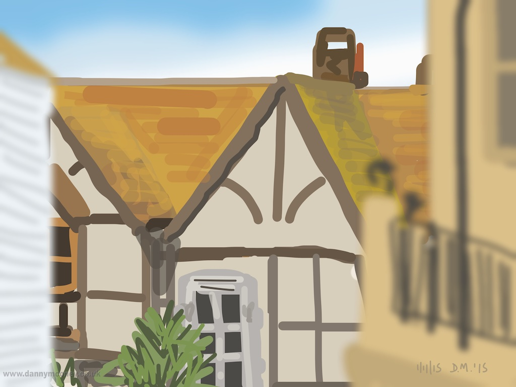 Danny Mooney 'All Saint's Street, 1/11/2015' iPad painting #APAD
