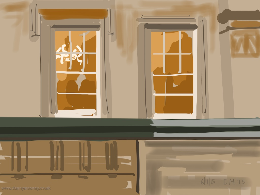 Danny Mooney 'Bristol Registry Office, 6/11/2015' iPad painting #APAD