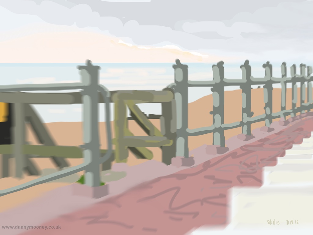 Danny Mooney 'Broad walk, 8/11/2015' iPad painting #APAD