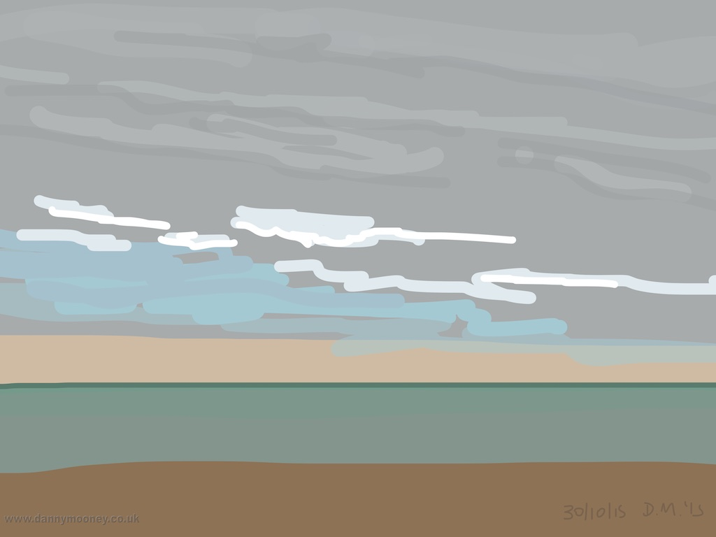 Danny Mooney 'Calm sea, 30/10/2015' iPad painting #APAD