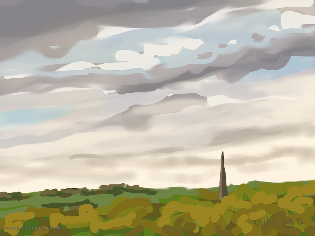 Danny Mooney 'Pastoral scene, 7/11/2015' iPad painting #APAD