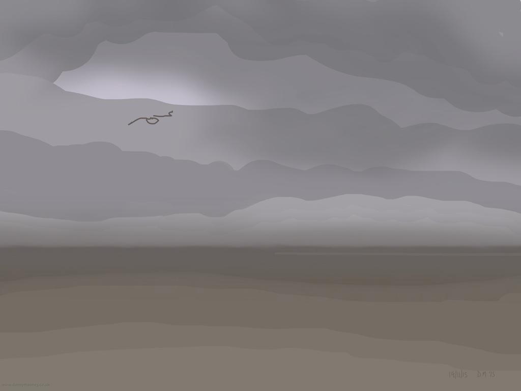 Danny Mooney 'Who'd be a sea gull?, 19/11/2015' iPad painting #APAD