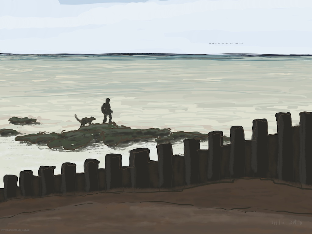 danny-mooney-dog-walking-on-the-rocks-17-1-2016-ipad-painting-apad1.jpg
