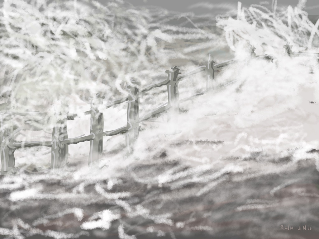 Danny Mooney 'Ridiculously rough sea, (Storm Imogen), 8/2/2016' iPad painting #APAD