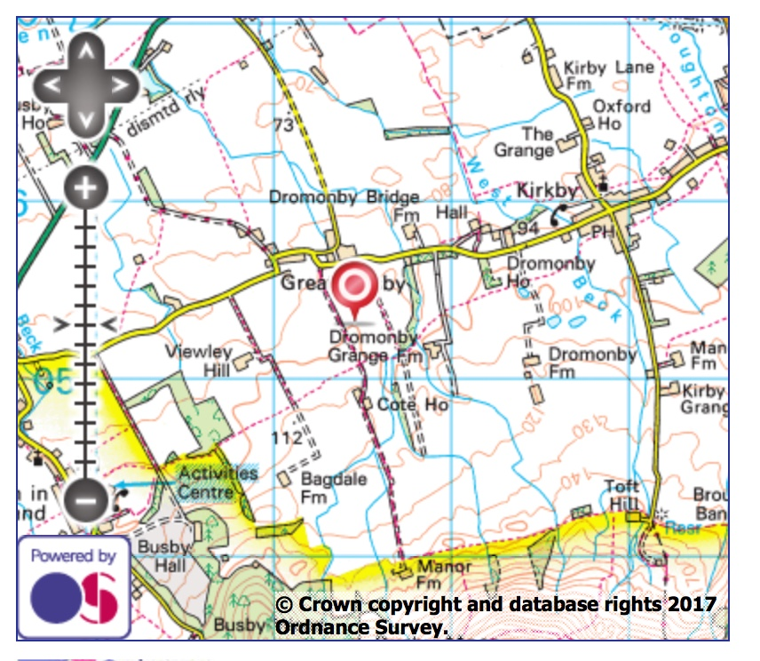 Bales, Great Busby Parish map