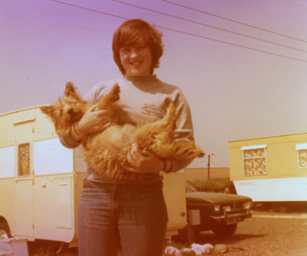 Marianne with her first ever dog, Tina!